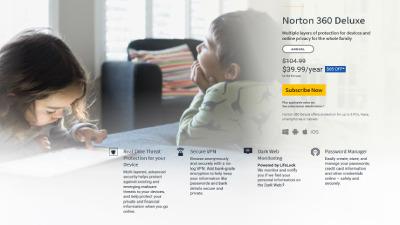Norton 360 Deluxe.