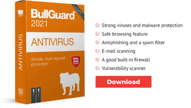 BullGuard Antivirus Offer.
