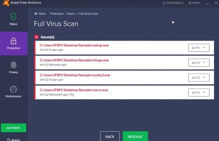 Avast antivirus performance