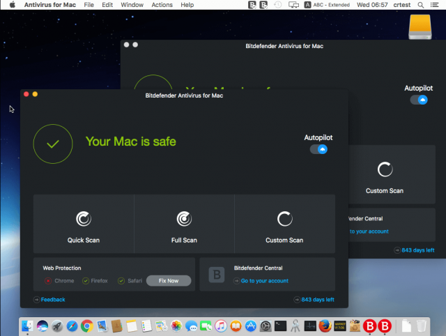 Bitdefender Mac Interface