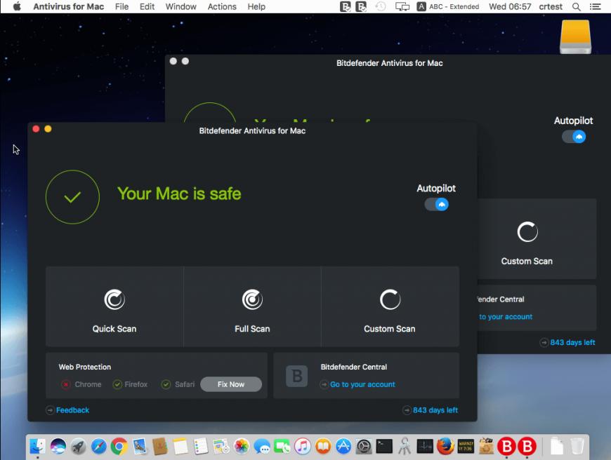 Bitdefender Mac Interface