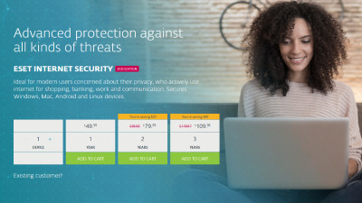 Eset Internet Security Antivirus.