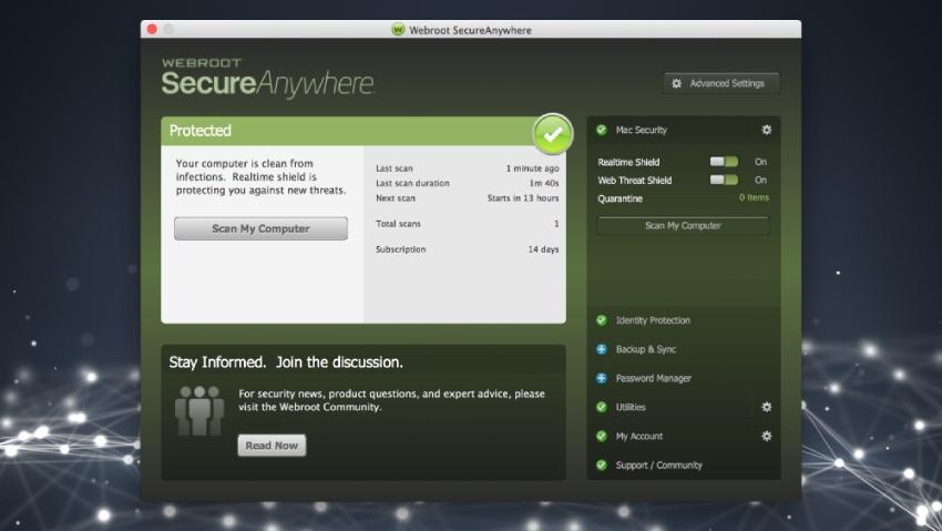 Webroot screenshot
