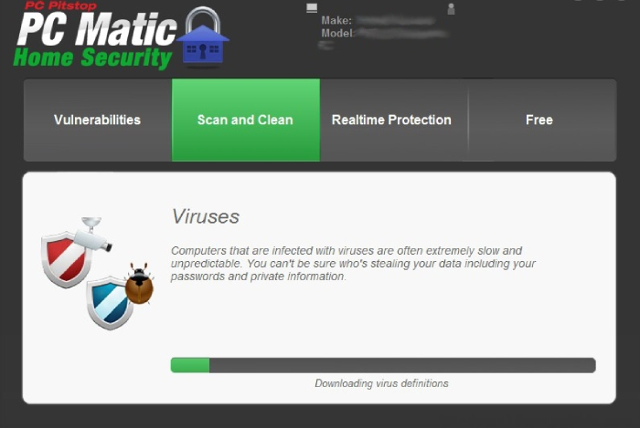 PCMatic: virus detection.