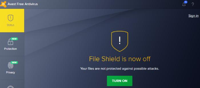 Avast: core shields