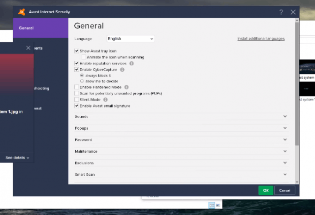 Avast: screenshot