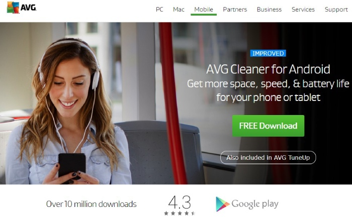 Avg cleaner: android
