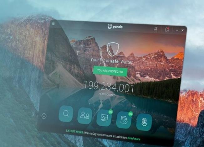 Panda antivirus review: main screen