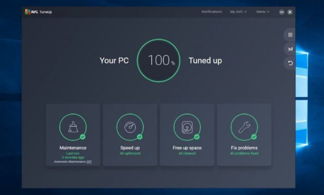 AVG TuneUp speed up, fixing problems