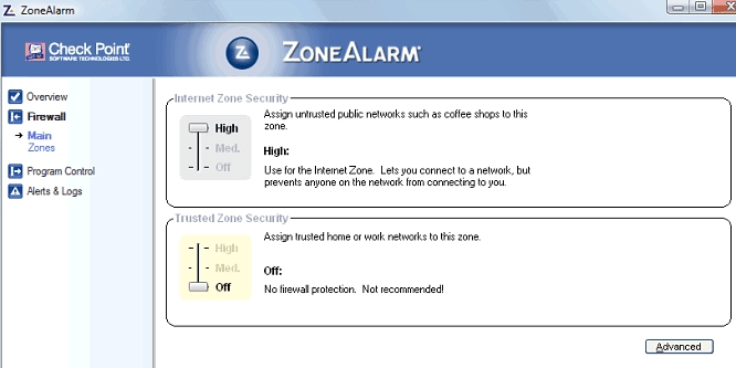 zonealarm review scanning