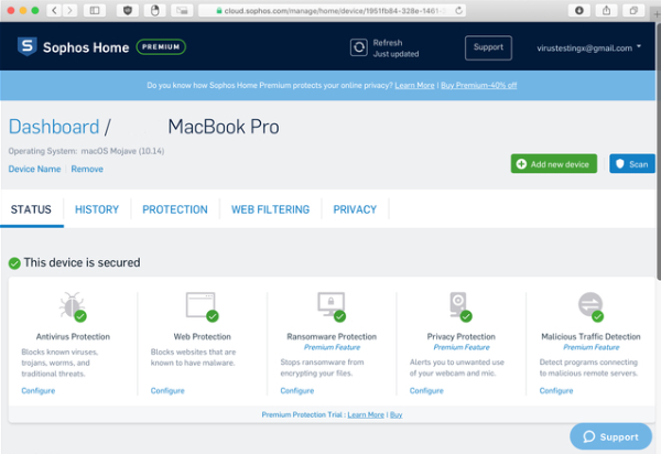 Sophos antivirus: review, pros and cons, malware protection, Sophos for Mac