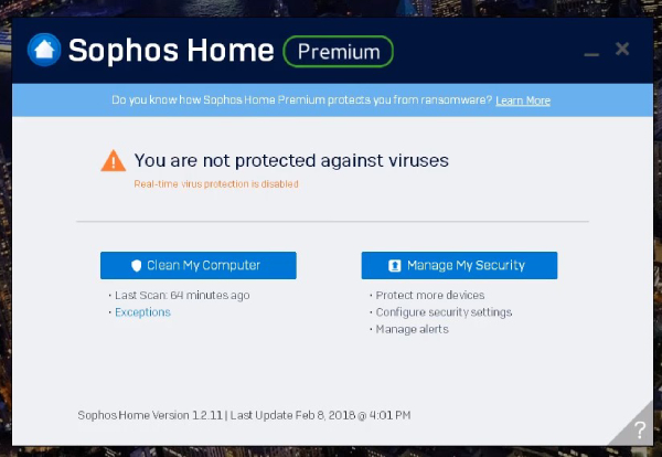Sophos antivirus: review, pros and cons, malware protection, Sophos Premium