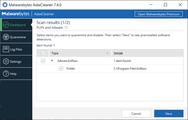 Malwarebytes AdwCleaner review, pros and cons