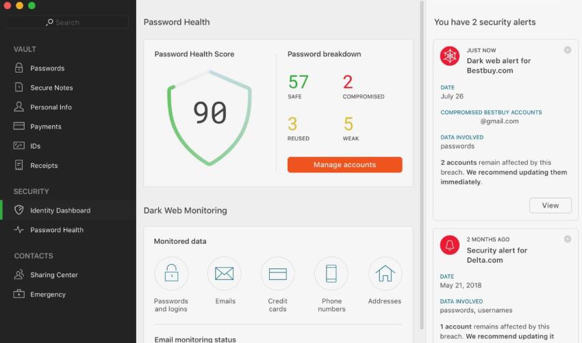 Dashlane password manager, best password manager
