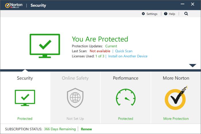 Norton Antivirus Free.